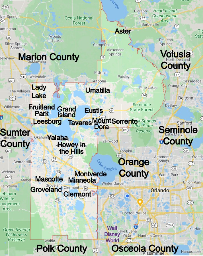 Lake County Community Map