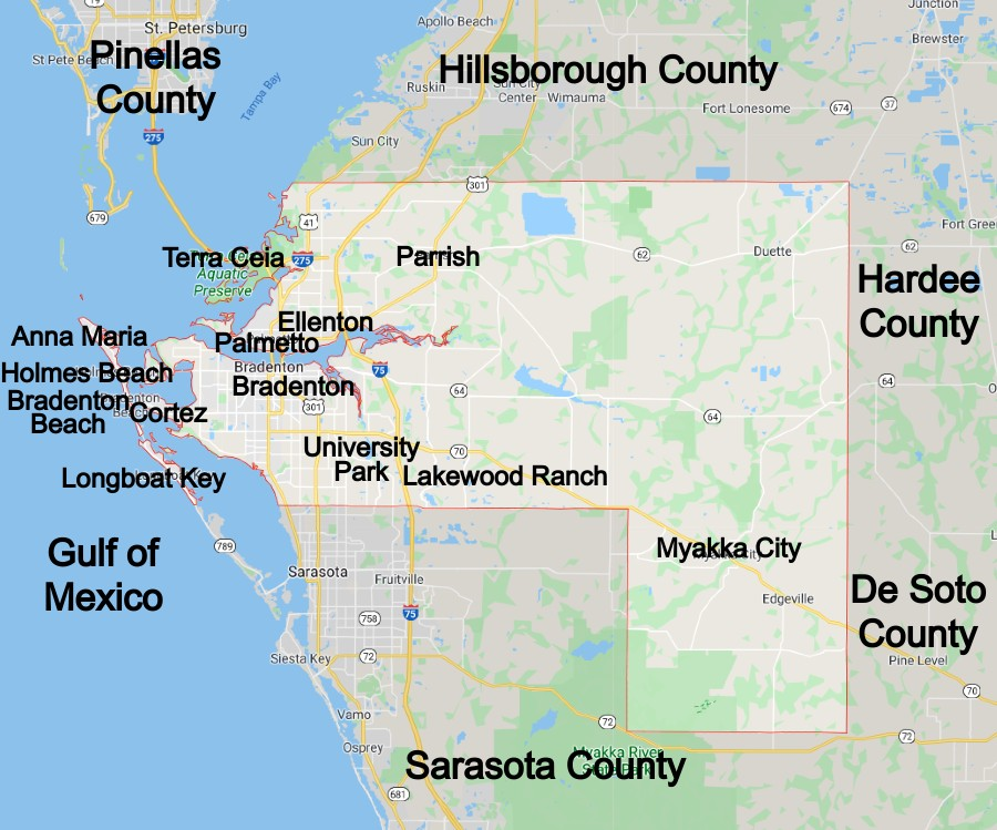 Manatee County Florida Community Map
