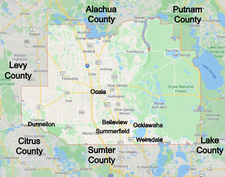 Marion County Florida Community Map