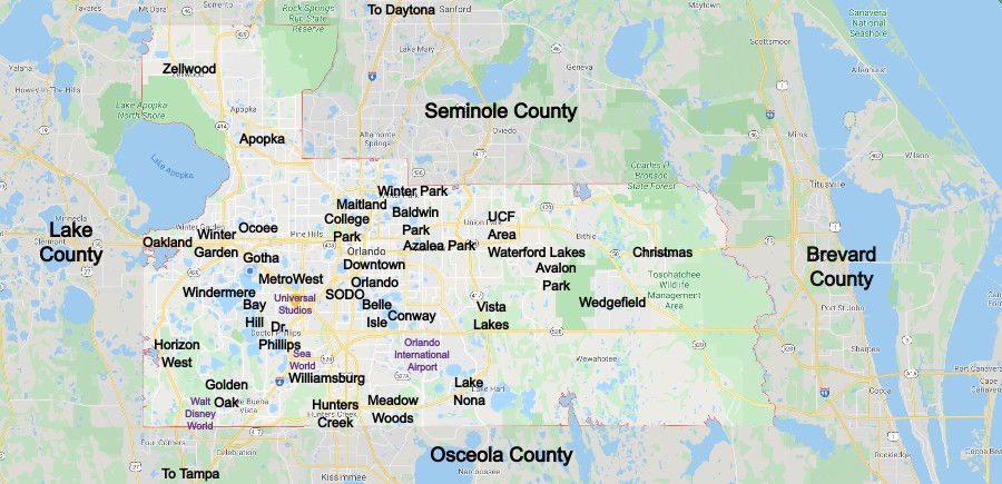 Orange County Community Map