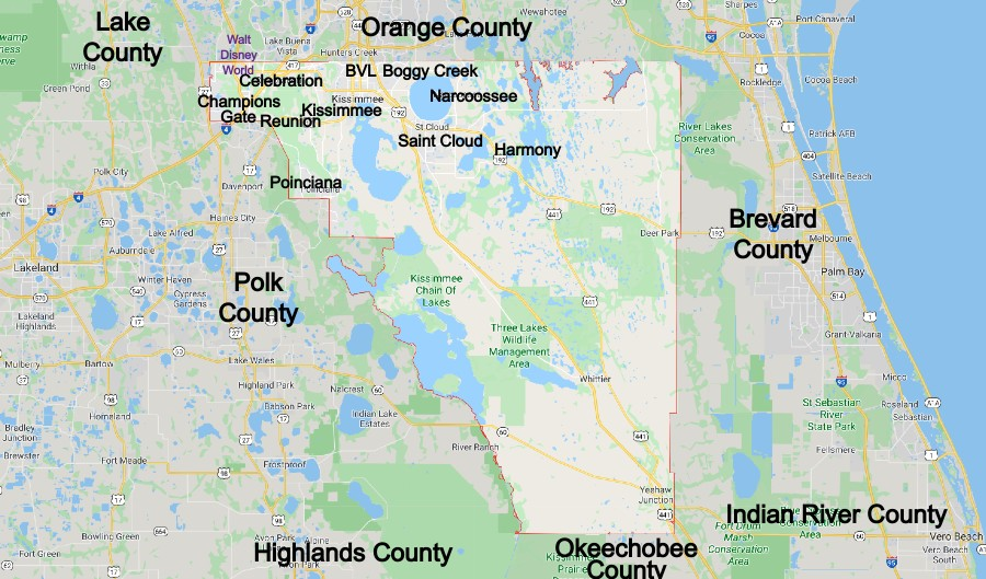 Osceola County Community Map