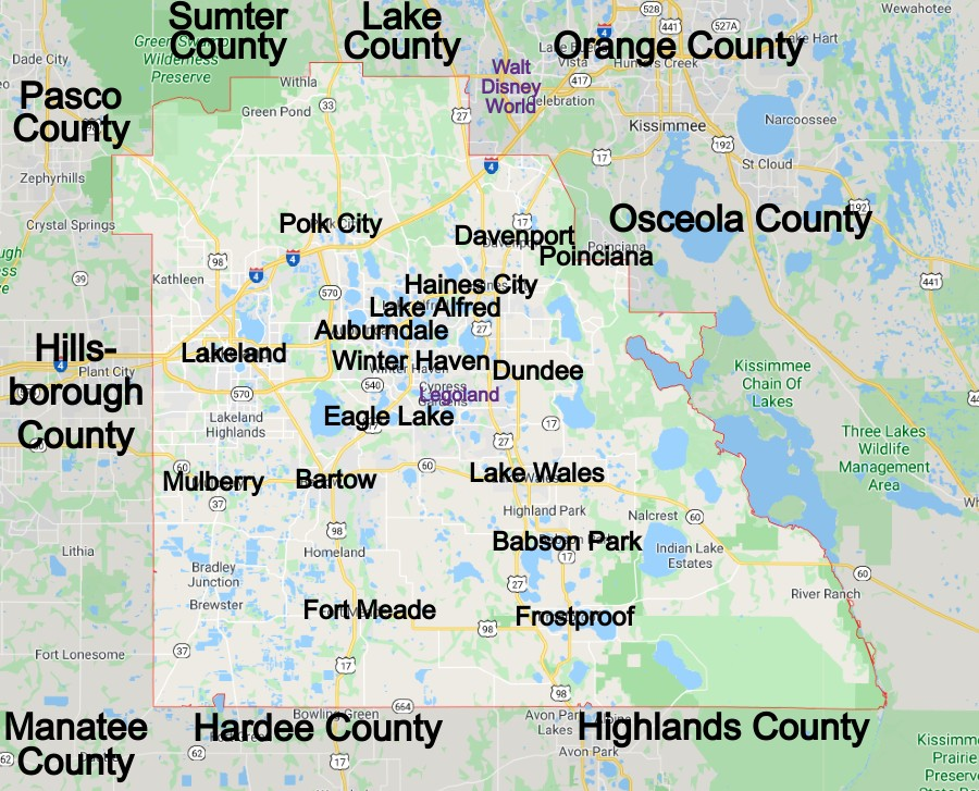 Polk County Florida Community Map