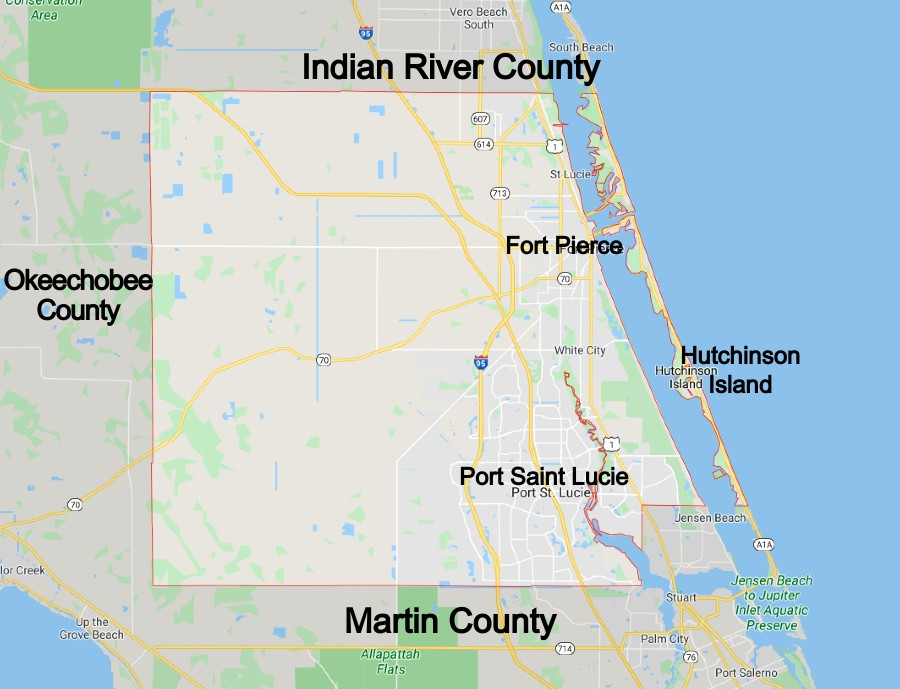 st lucie county florida community map