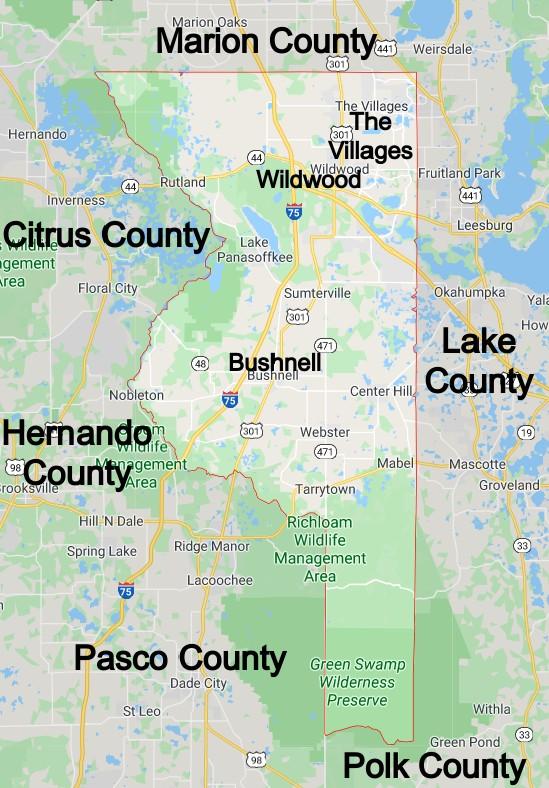 Sumter County Florida Community Map
