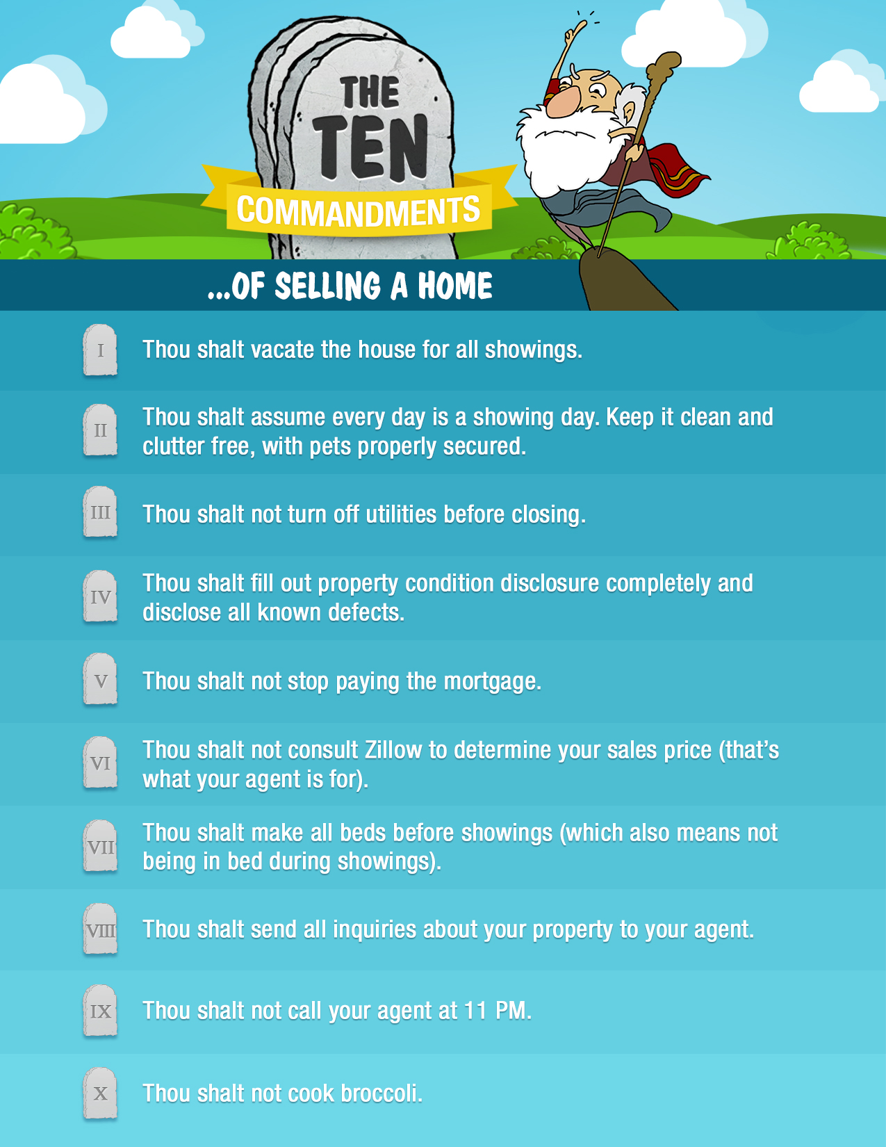 10 Commandments for Selling Your Home