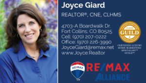 Joyce Giard Realtor REMAX Alliance Fort Collins