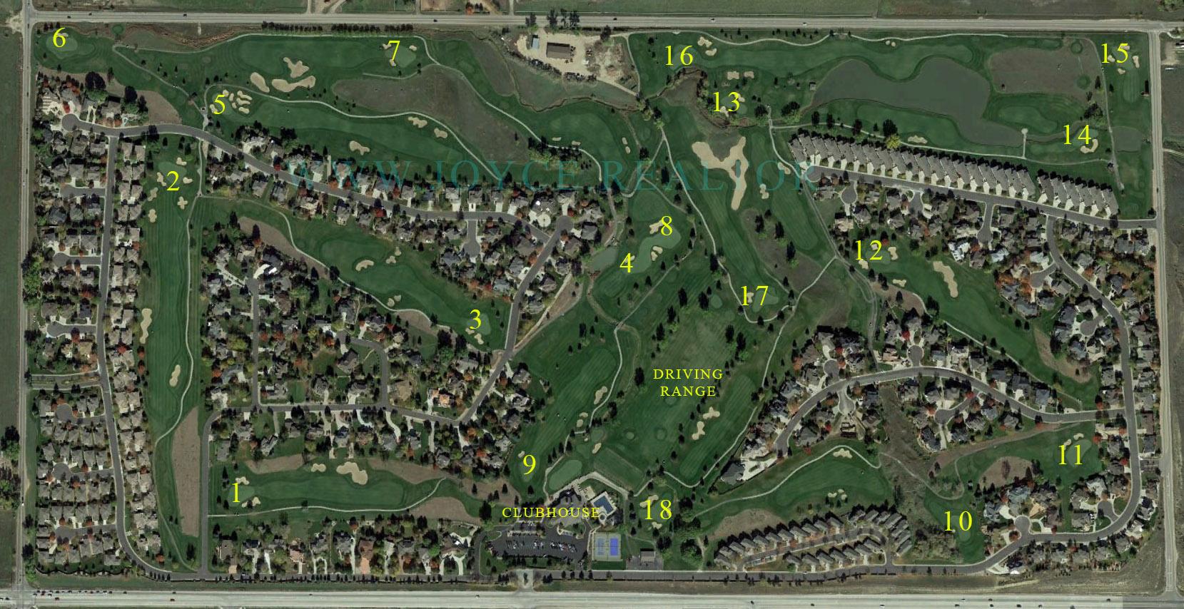 Ptarmigan Fort Collins Golf Course Layout Map