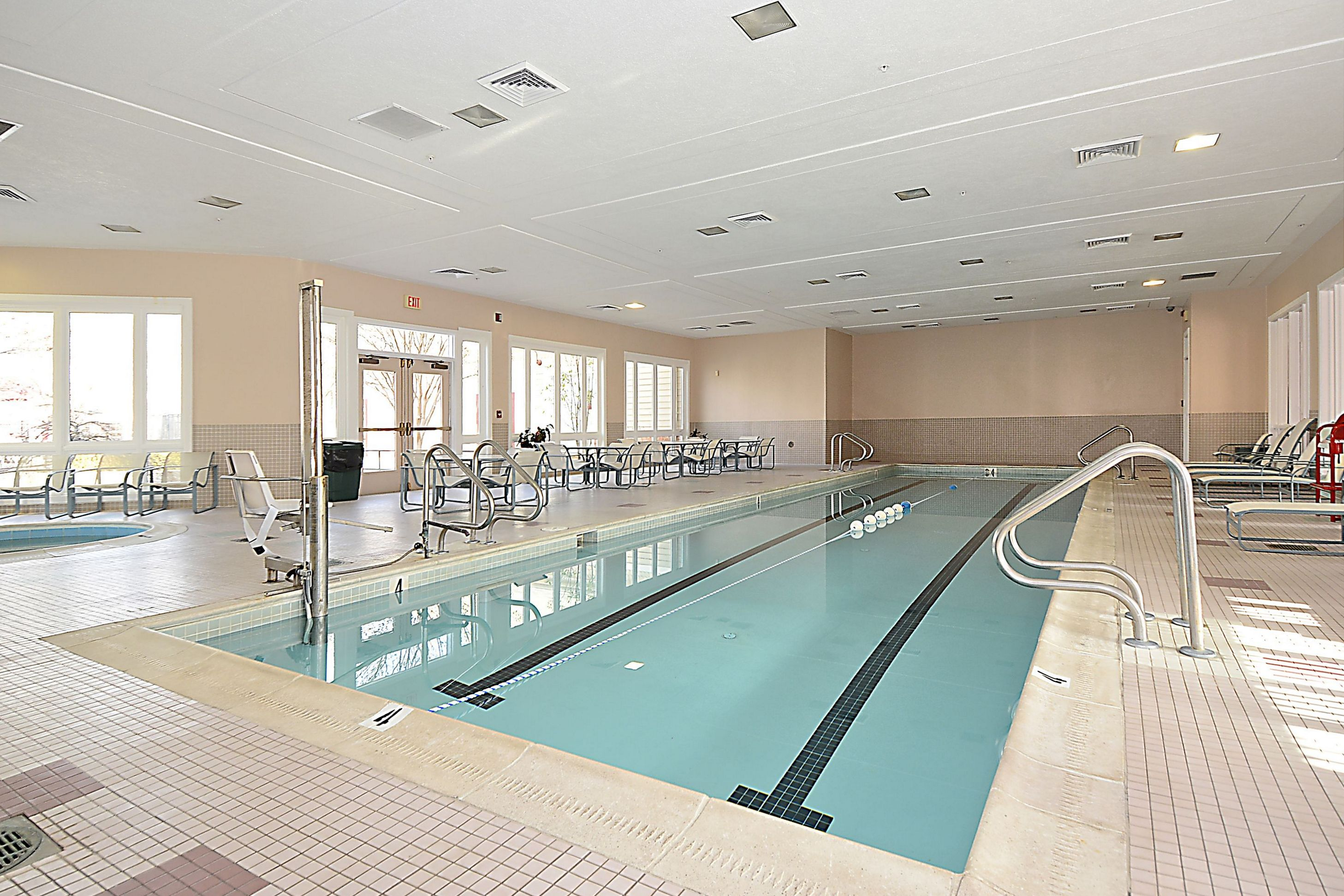 Indoor pool at piney orchard