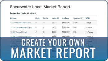 Create your own market report with local market data