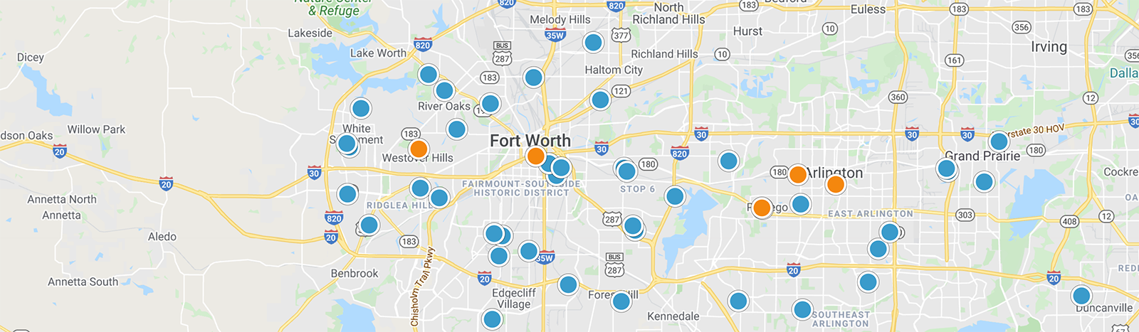 Fort Worth Real Estate Map Search