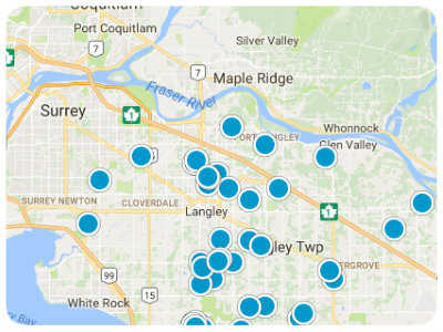 Fraser Valley Real Estate Map Search