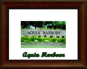 Aquia Harbour Stafford Community Gate Sign