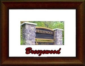 Breezewood Fredericksburg Community Sign