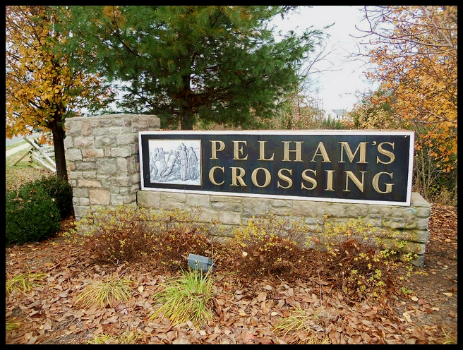 Pelhams Crossing Sign