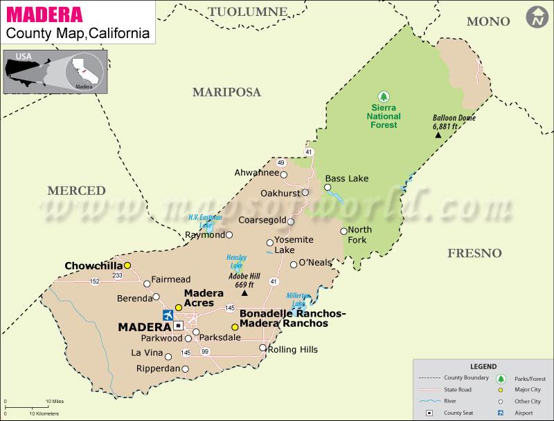 Madera County Map