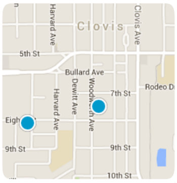 Clovis Ca map search for homes for sale