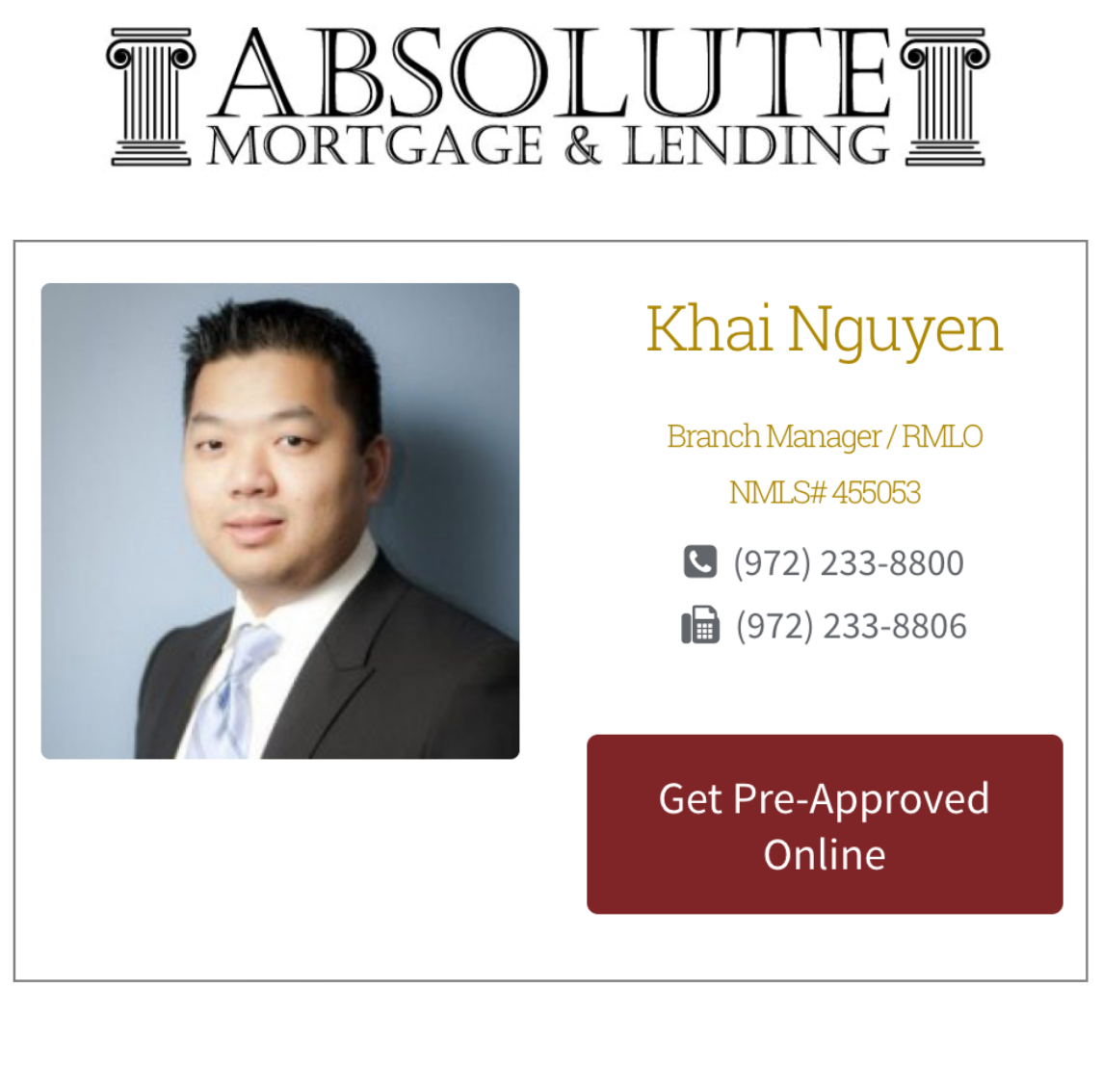 Absolute Mortgage Frisco Relocation Preferred Lender