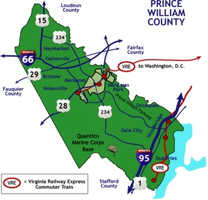 Prince William County Real Estate Image map