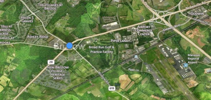 Bristow VA Map