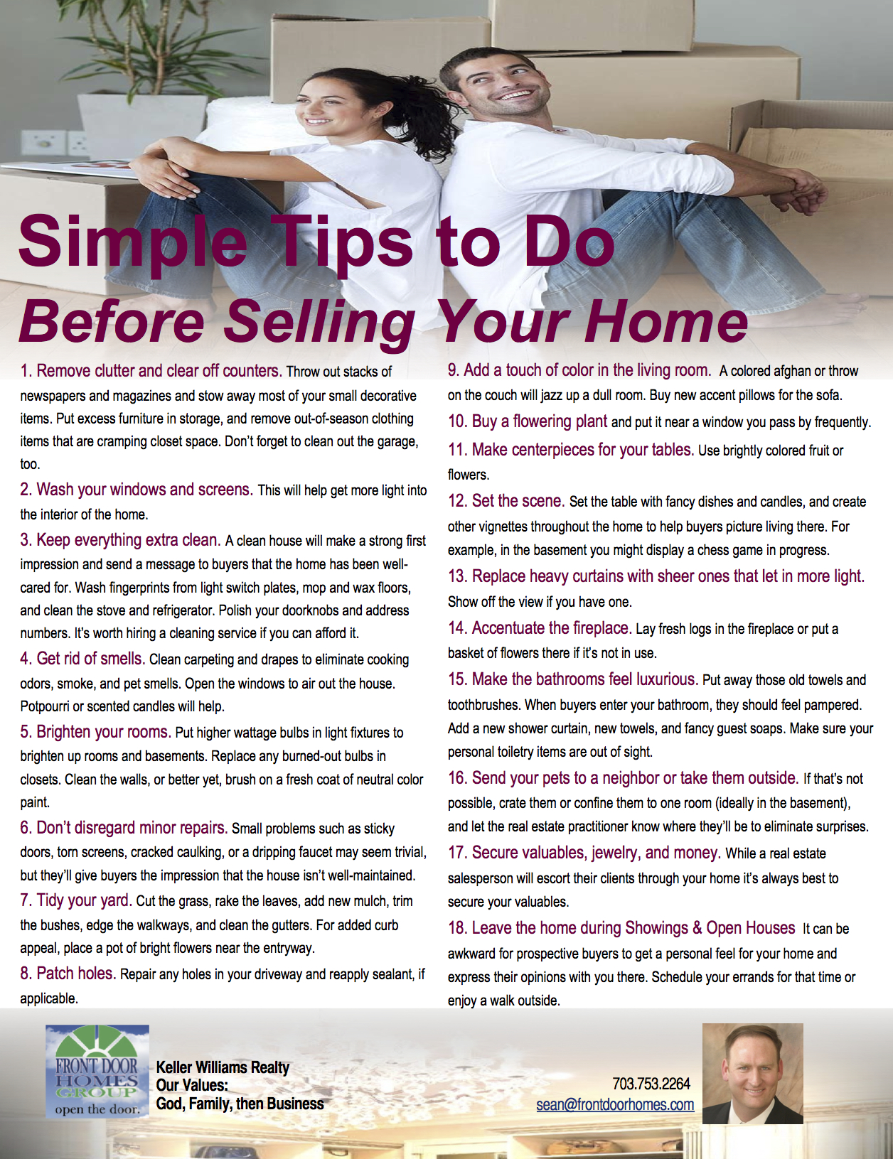 Simple Tips Before Selling Your Home