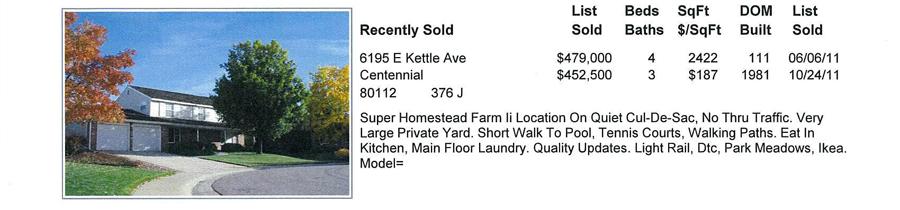 Homestead Farm II Sold Properties