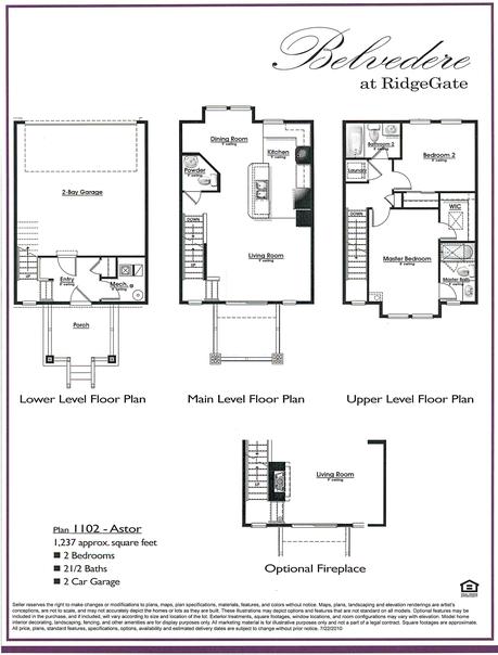 Plan 1102 Astor Belvedere at RidgeGate in Lone Tree, CO