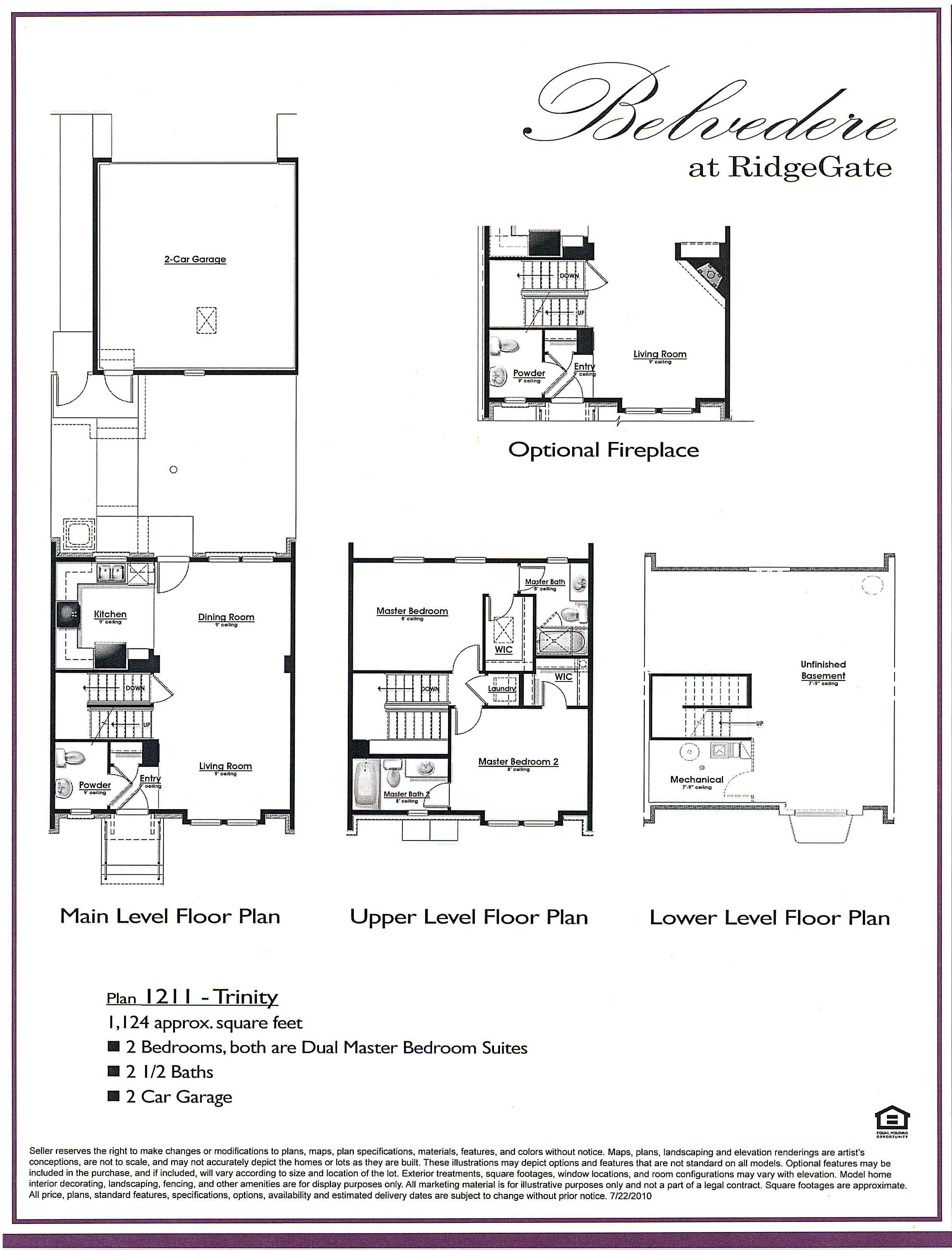 Plan 1211 Trinity at Belvedere in RidgeGate of Lone Tree CO