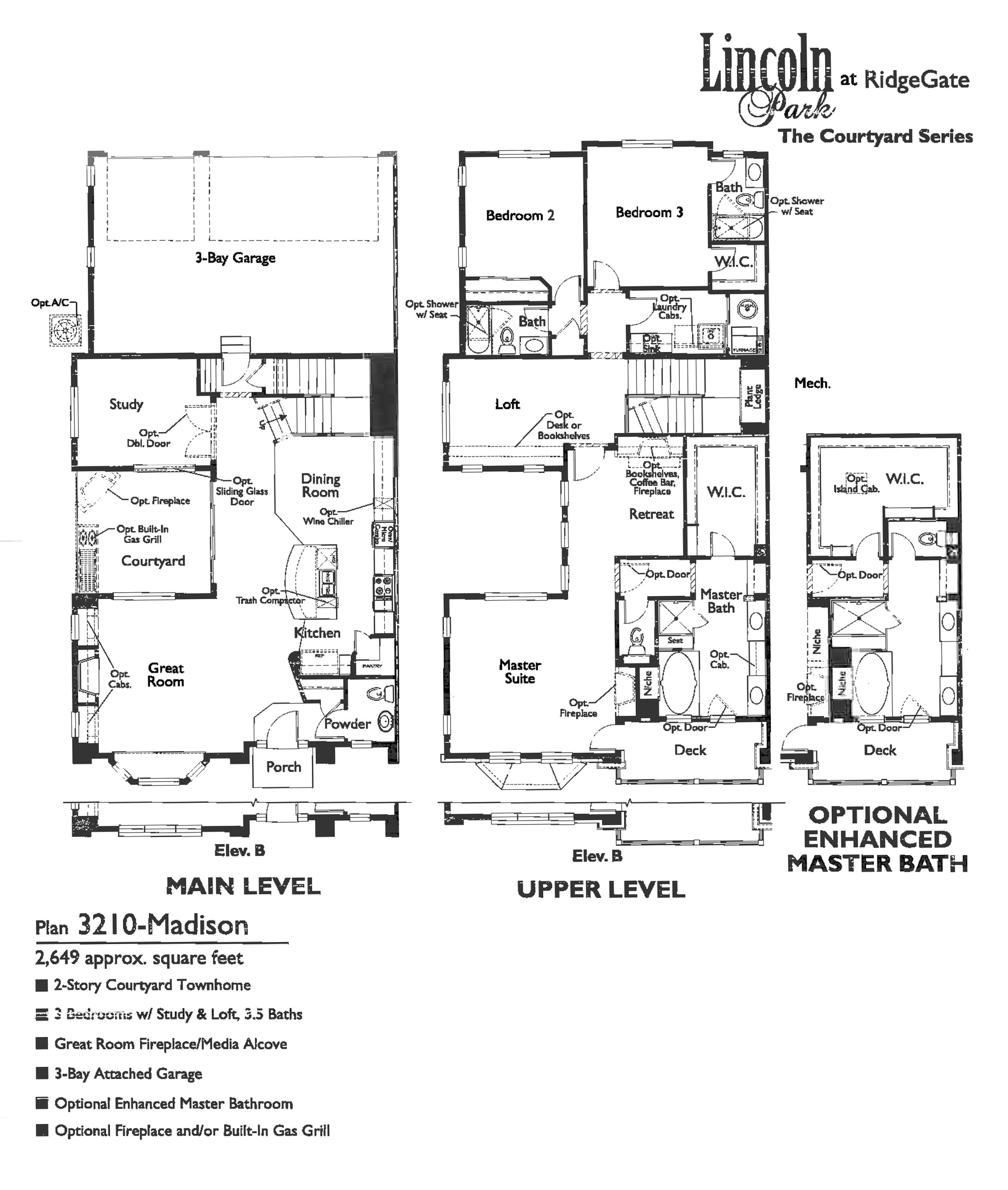Madison Floor Plan for Lincoln Park at RidgeGate in Lone Tree, CO