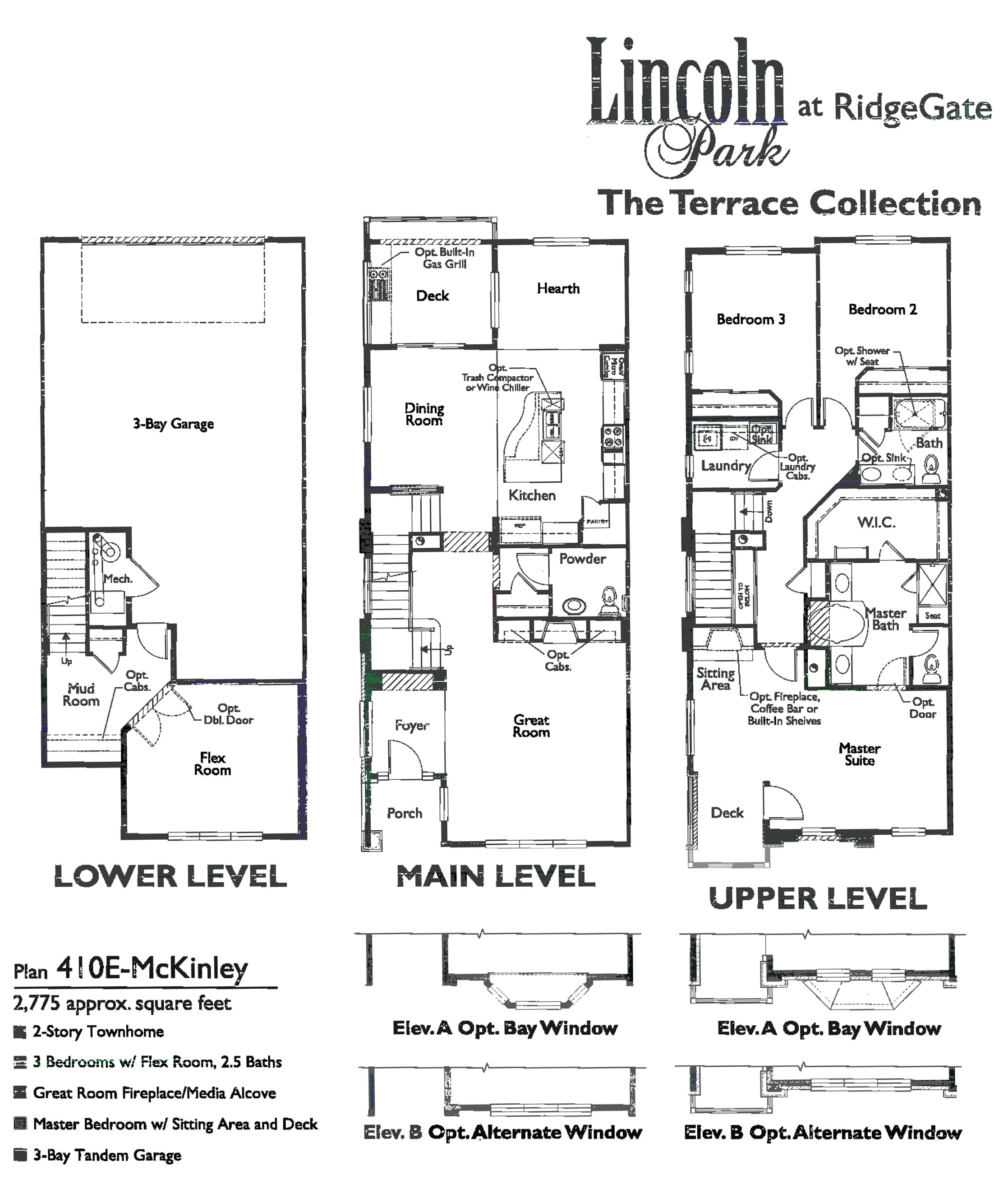 McKinley Floor Plan for Lincoln Park at RidgeGate in Lone Tree, CO