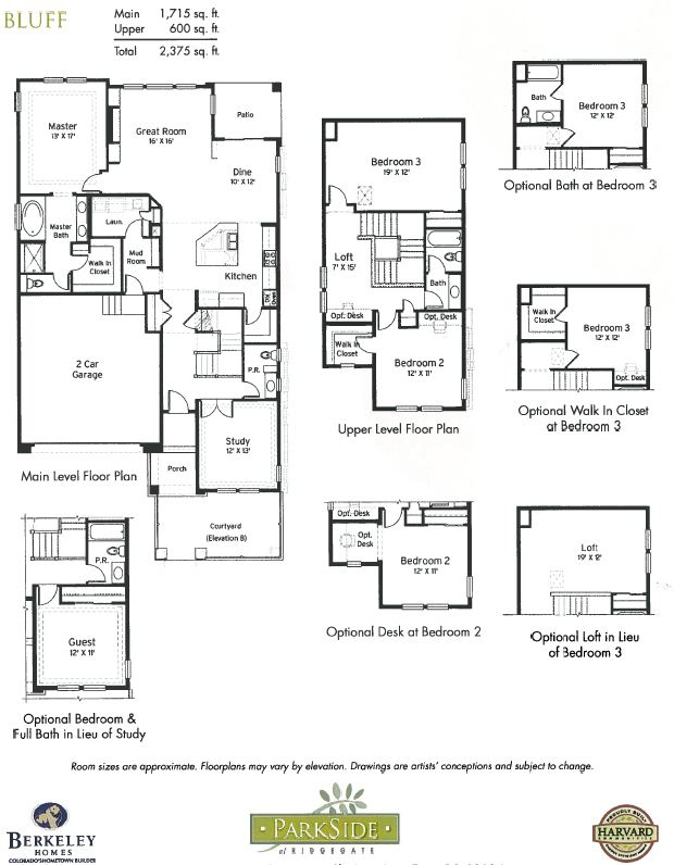 Bluff Model and Floor Plan in ParkSide at RidgeGate in Lone Tree, CO