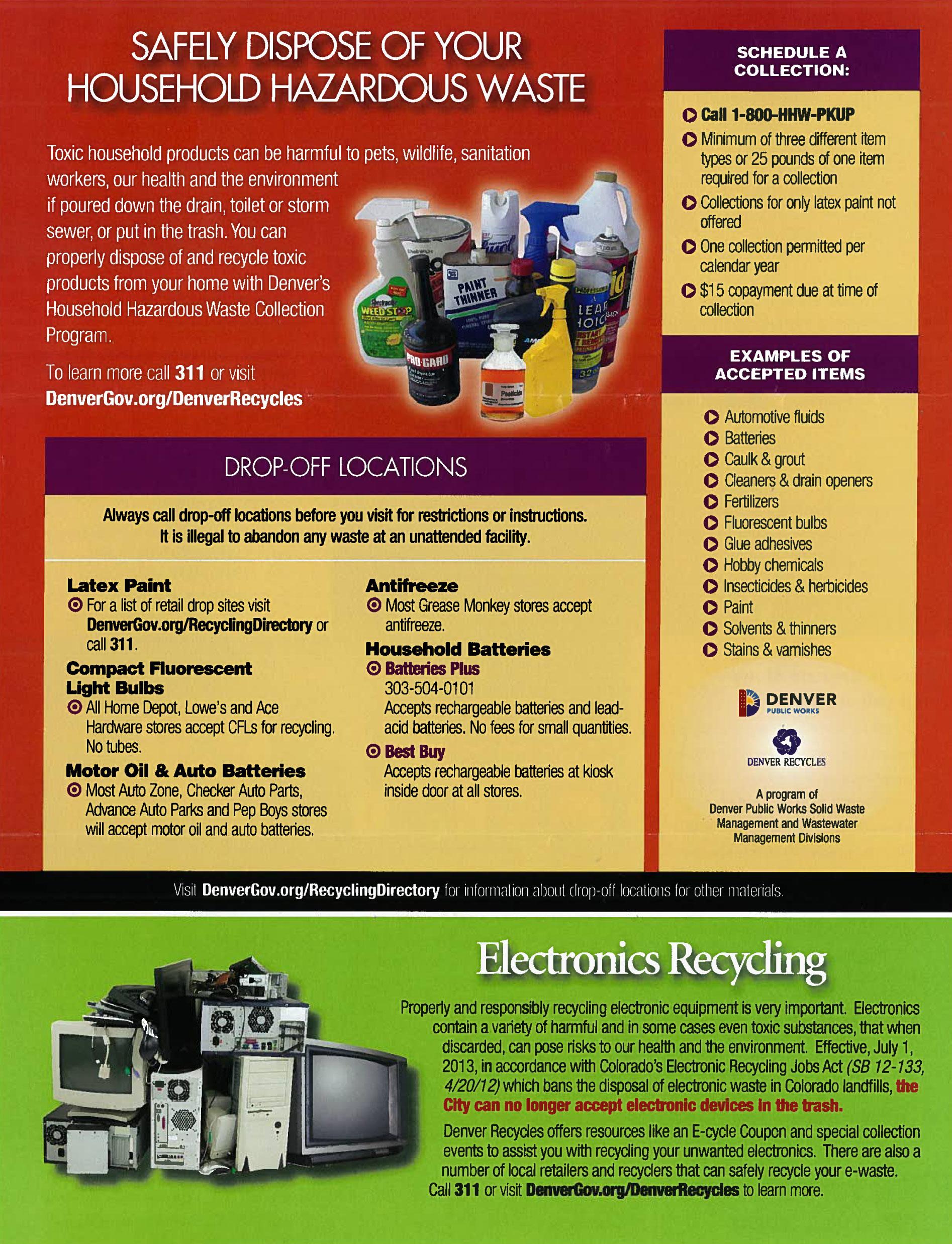 Denver Household Hazardous Waste Disposal
