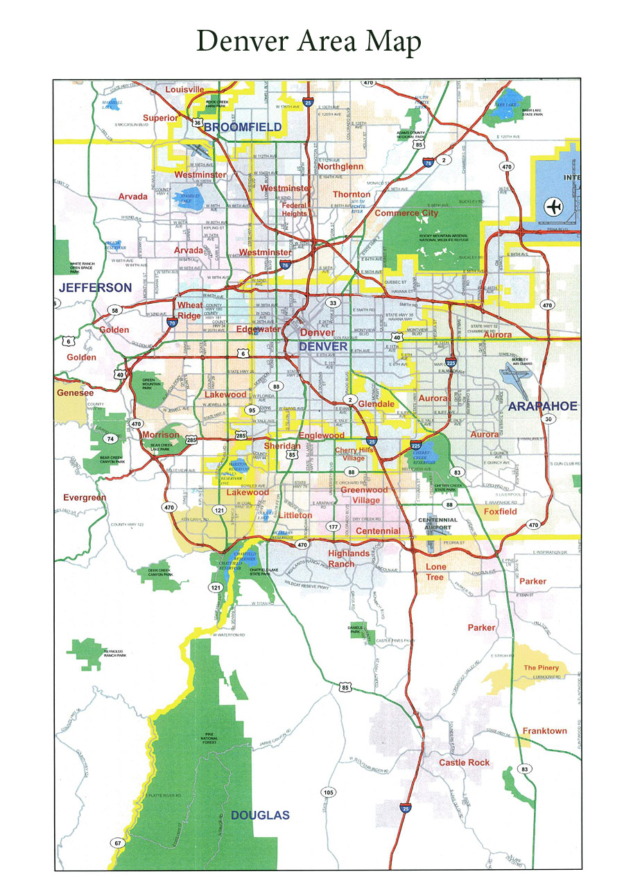 map of metro denver area Metro Denver Area Map map of metro denver area