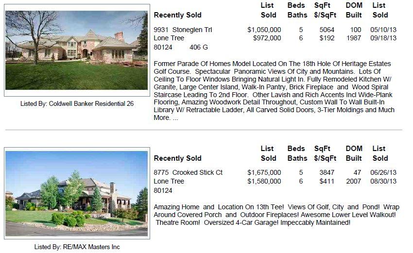 Heritage Estates 2013 Sold Homes