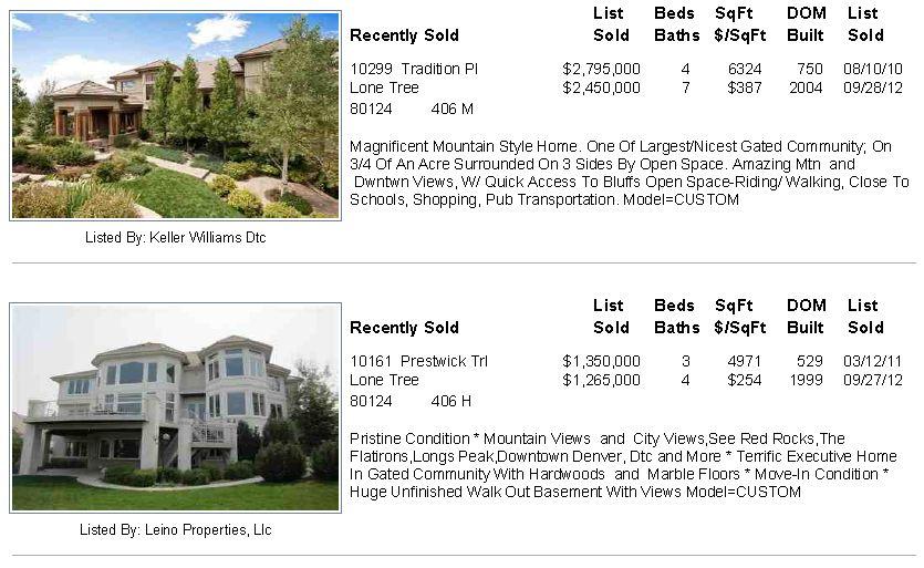 Heritage Estates Sold Homes Oct 8 2012