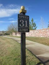 Heritage Hills Lone Tree Colorado Speed Limit Sign