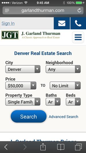 GarlandThurman.com Mobile Denver MLS Search