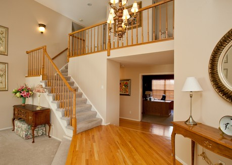 Entry Foyer of Wedgewood Model by Sanford Homes