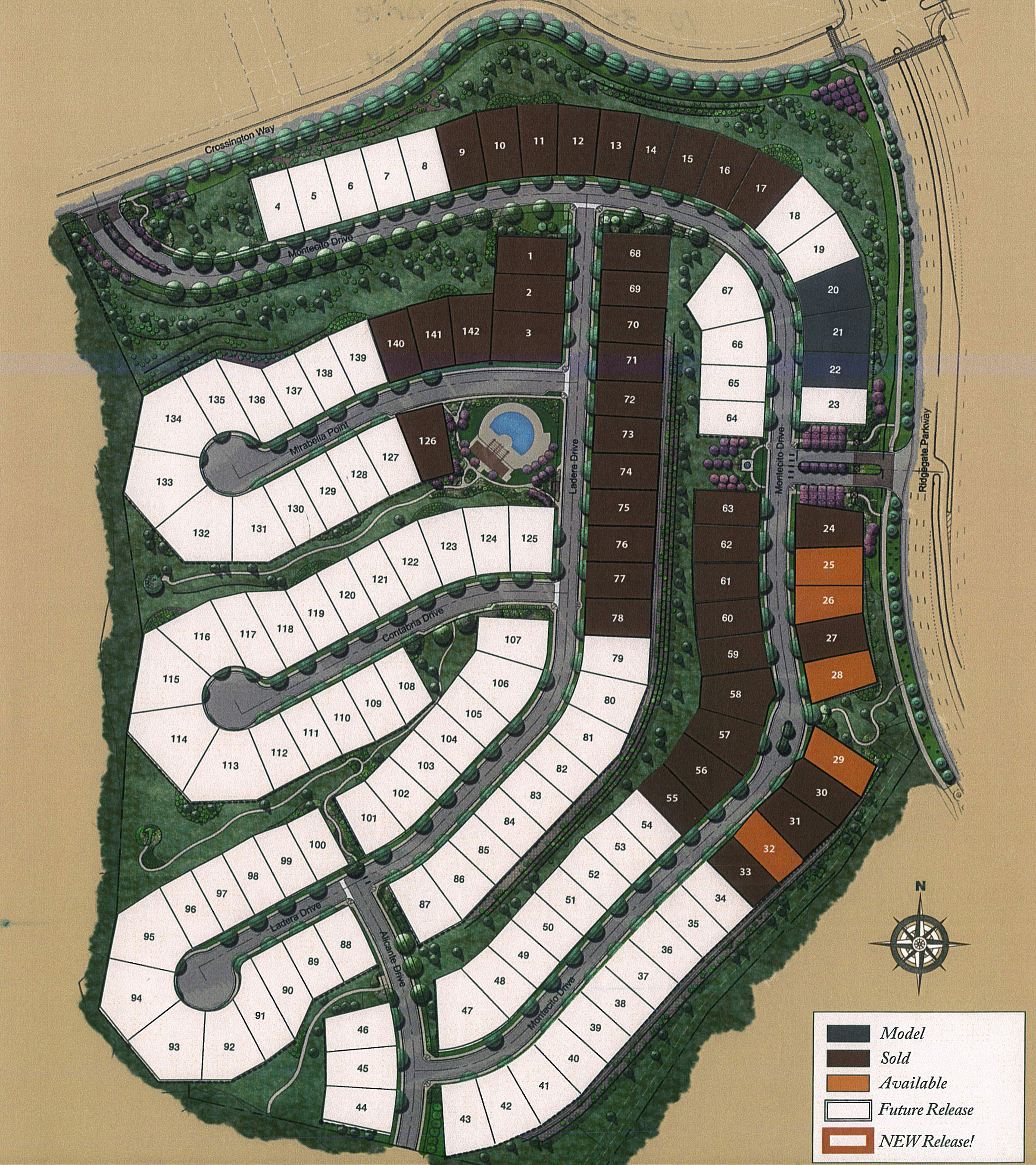 Neighborhood Map for Montecito at RidgeGate in Lone Tree, CO