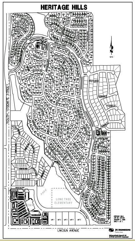 Map of Heritage Hills