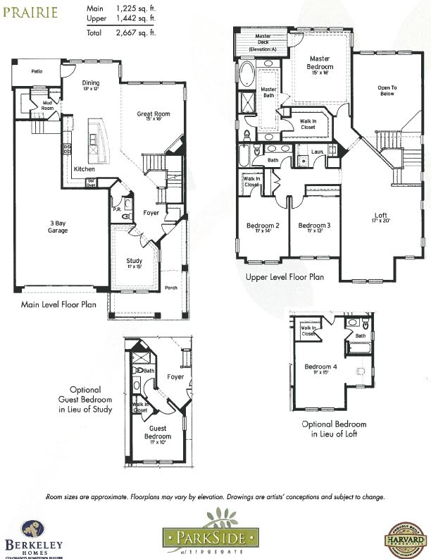Prairie model and floor plan in ParkSide at RidgeGate in Lone Tree, CO