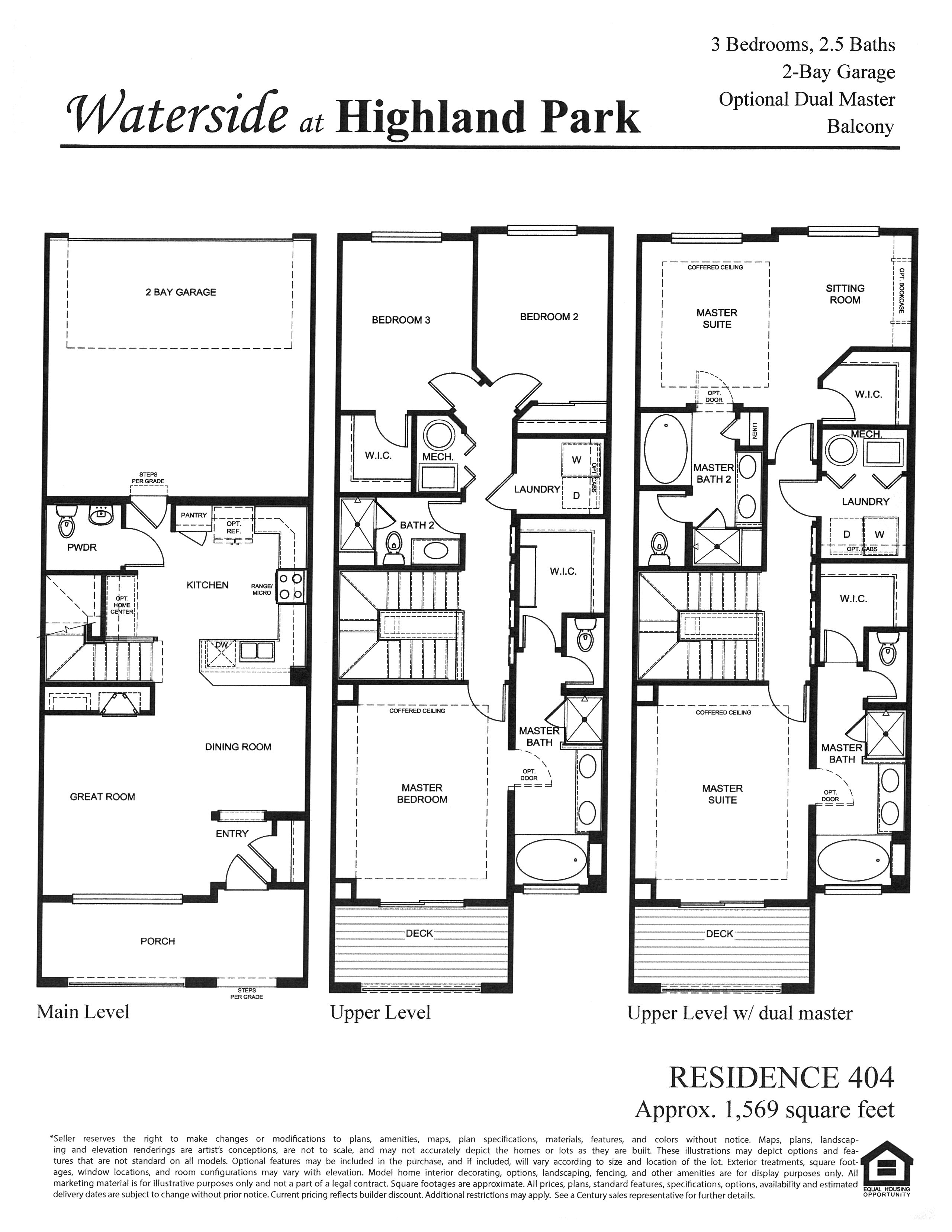Waterside at Highland Park Floor Plan Residence 404 in Centennial, CO