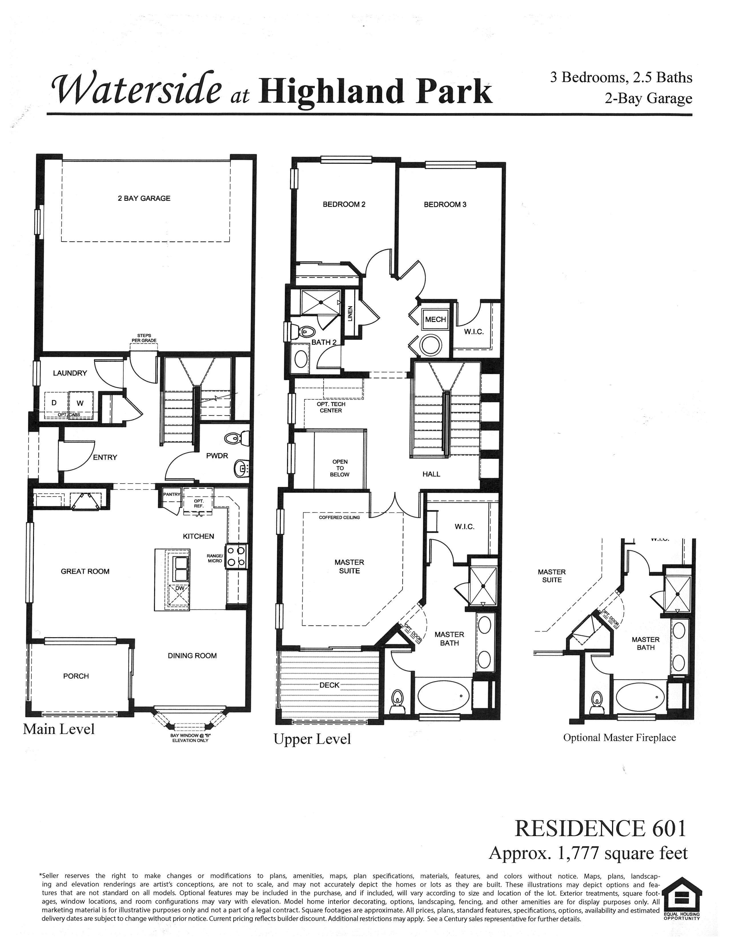 Waterside at Highland Park Floor Plan Residence 601, Centennial, CO