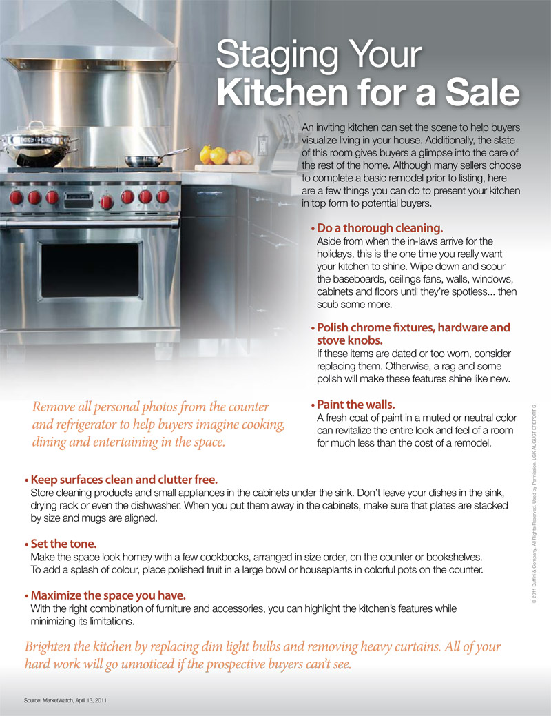 Staging Your Kitchen for a Sale
