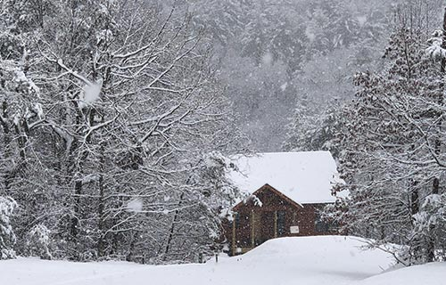 winter in north georgia mountains