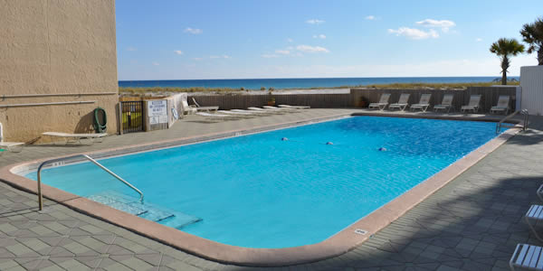 Pool at Navarre Towers over looking the Gulf