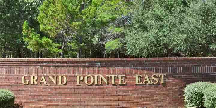 Entrance to a Grand Pointe East Subdivision