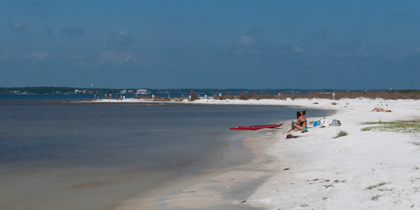 Santa Rosa Sound beach visitors