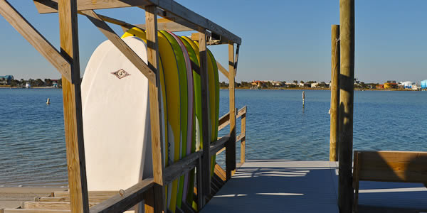 Waterfront activities on Pensacola Beach