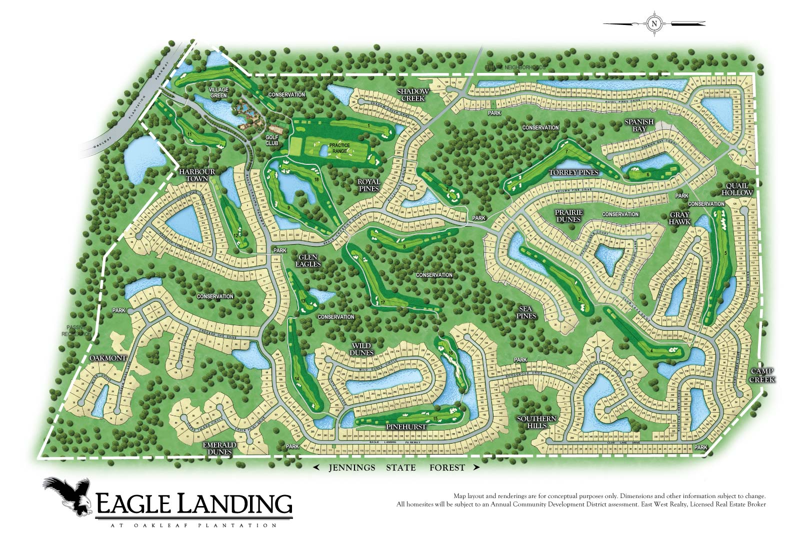 Map of Eagle Landing