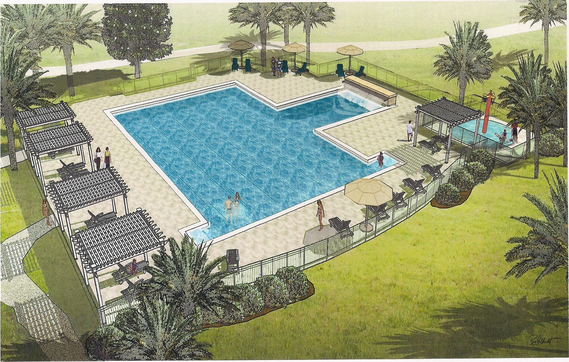 Magnolia Point Country Club New Pool